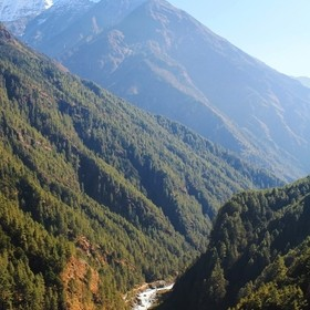 One of the many valleys and views along the Everest Base Camp trek route.