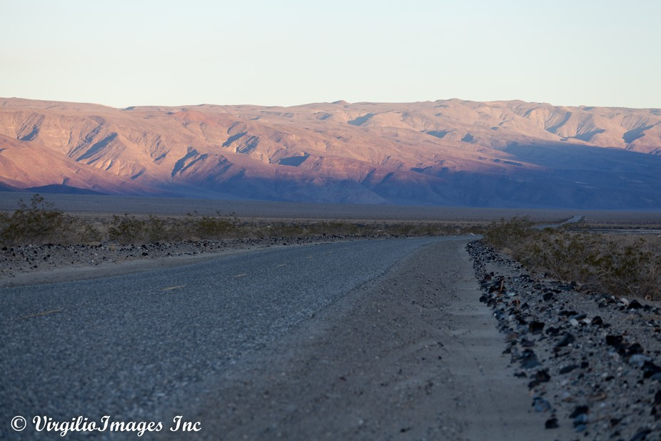 First Light in Panamint Valley, Death Valley National Park, Trona Wildrose Road