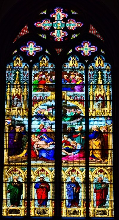 Stained Glass Window, Cologne Cathedral #1