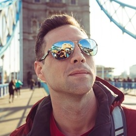 A portrait on the Tower Bridge in London reflecting perfectly in the subject's glasses. Don't forget to follow me on Instagram @jeltown...