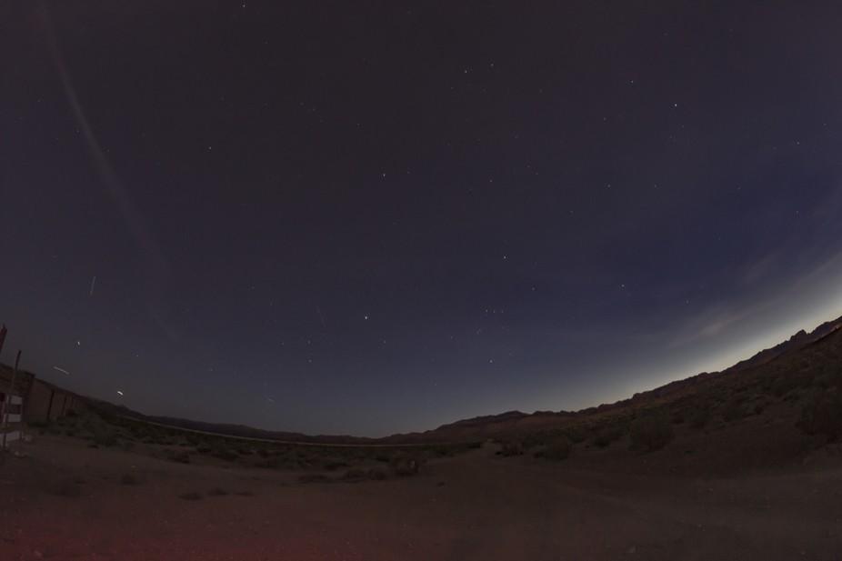 Dusk near Las Vegas facing west after sunset.
