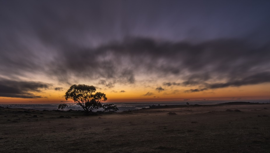 In the Bremer Ranges of South Australia looking towards the Murray River - a glorious dawning