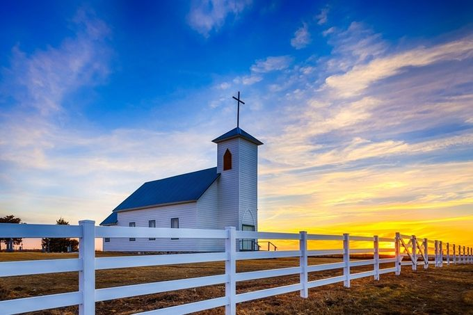Sunset at Saint Procopius Church  by KendraKPK - Image Of The Month Photo Contest Vol 22