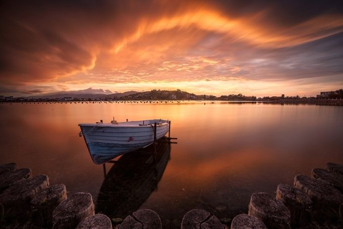 Golden Sunset  by FrancescoGulli - Ships And Boats Photo Contest