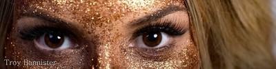 Lara eyes glitter shoot