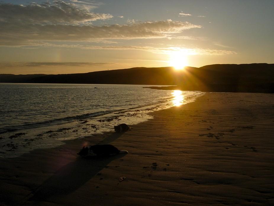 Sunset in Skipness, Scotland