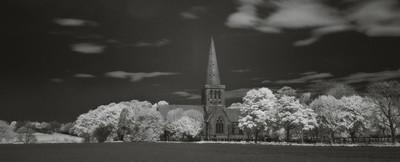 mono portrait of st johns church