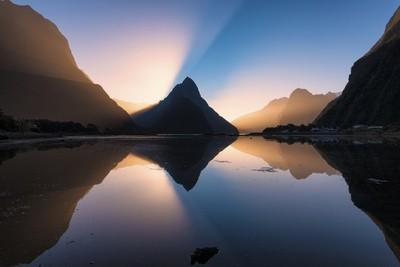 Mitre Peak Light Beam