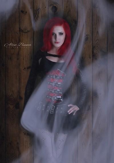 Smoking Red Hair Girl