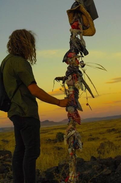 Native American Battlefield Sunset