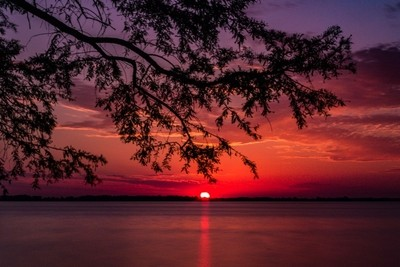 Sunset at Reelfoot Lake in Tennessee