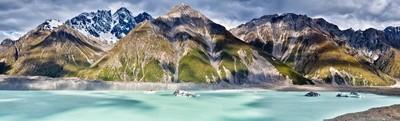 Tasman Glacier Lake Mt Cook National Park New Zealand
