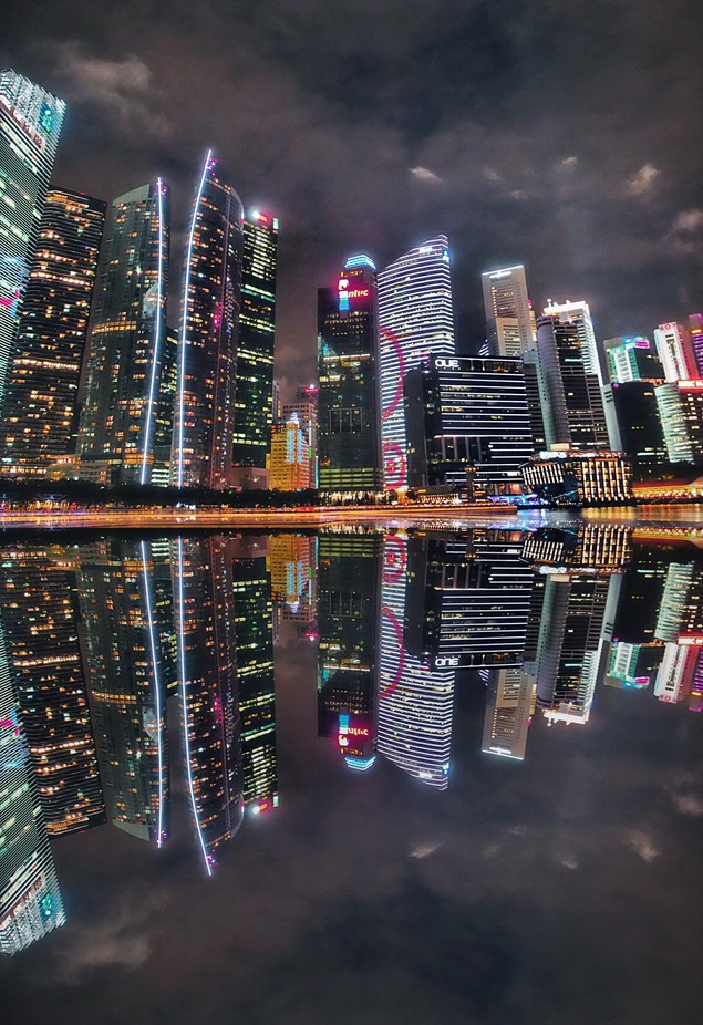 Singapore by Night by verticalxhorizons - City In The Night Photo Contest