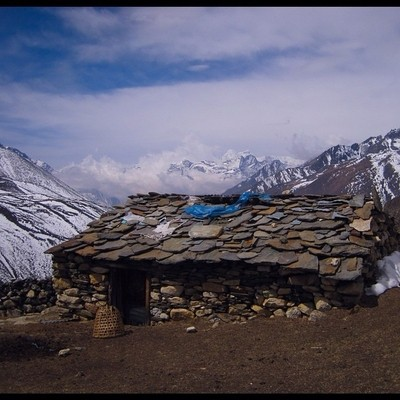 A Shepard's hut #himalayanmountains #trekking#landscape#greatoutdoors#scenry#mountains#nepal#hiking#worldexpeditions