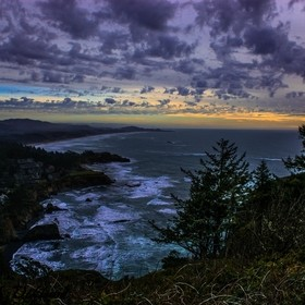 A small piece of the Oregon Coast looking south from Cape foul weather