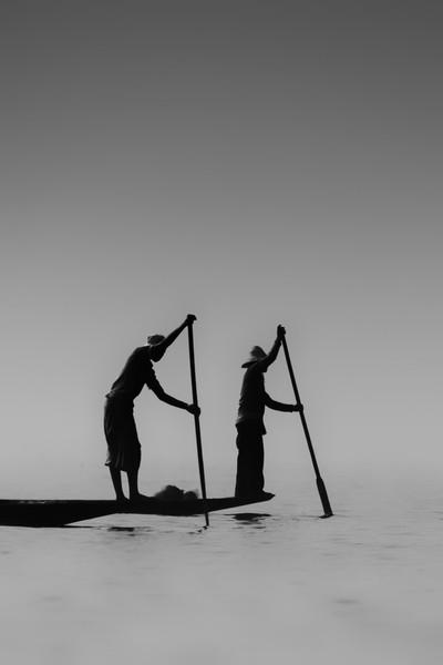 Fishermen inle lake - Birmanie