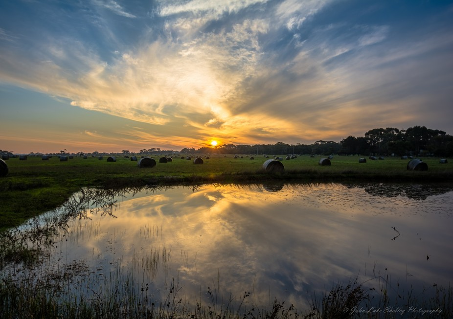A quick drive up the road from my house and I found this scene. There was no wind so the water tu...