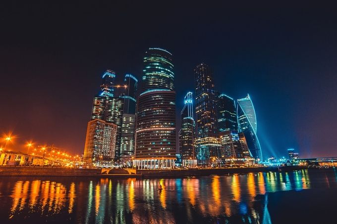 Moscow City by klepikovadaria - City In The Night Photo Contest