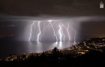 Stormy night over Geneva Lake
