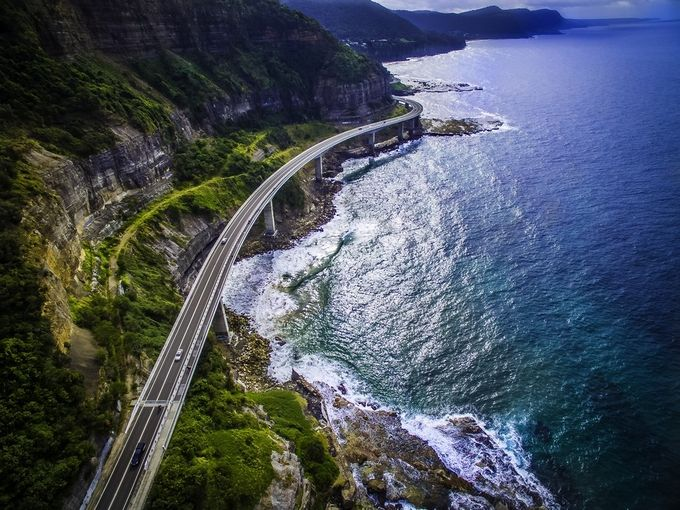 Sea Cliff Bridge NSW AUSTRALIA by jasonboneham - A Road Trip Photo Contest
