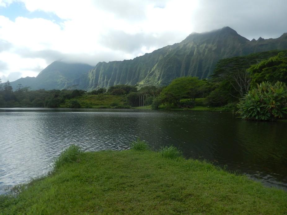 Stunning view to the Ko'olaus at Ho'omaluhia.