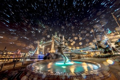Fountain Spray by Tower Bridge