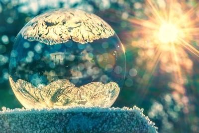 A frozen bubble ...