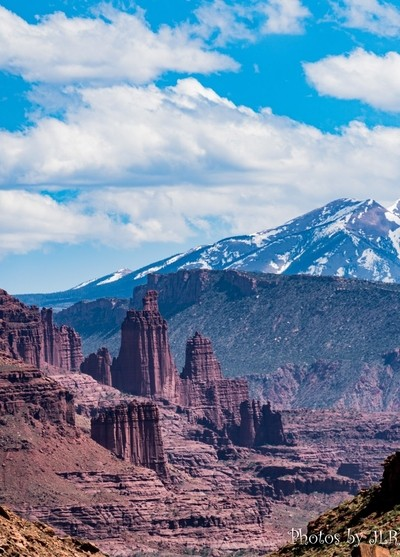LaSal Mts and Fisher Towers