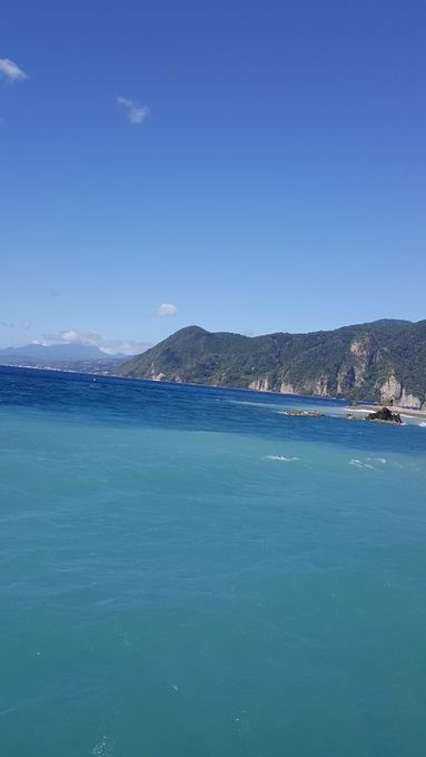 Where the Carribean meets the Atlantic oceans off the eastern tip of the island of Dominica