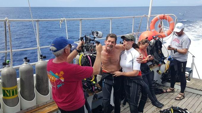 Having fun between dives. Buddy Dive Dominica