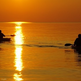 My husband and a friend were inspired by the sunset to take their kayaks out on Lake Huron on a summer evening. And I was inspired to take their ...