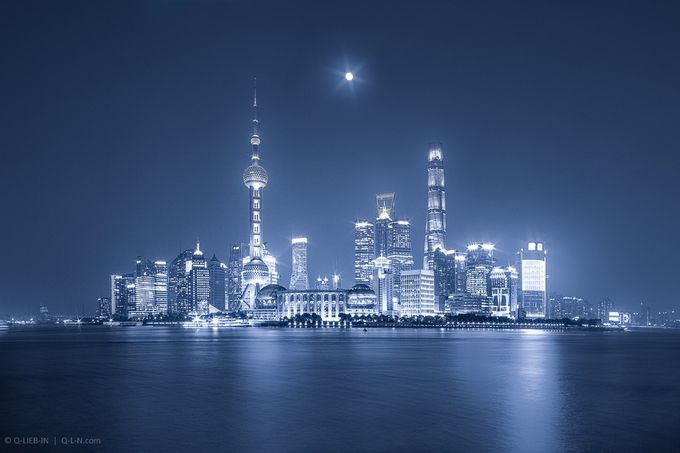 Silver night by q-liebin - Cities By The Water Photo Contest