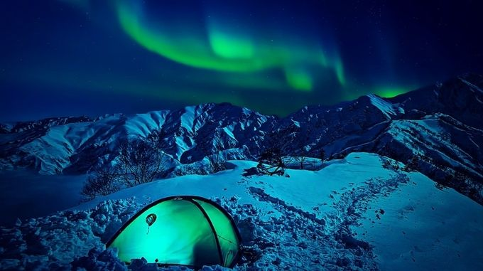 Northern Lights  by dawnvandoorn - Outdoor Camping Photo Contest