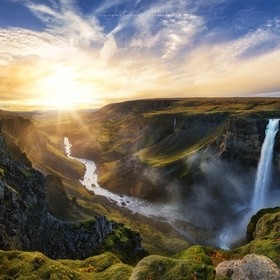 The Fossardalur valley and it's waterfall Háifoss with a length of 122 meters. Definitely one of the best places I've visited during my t...