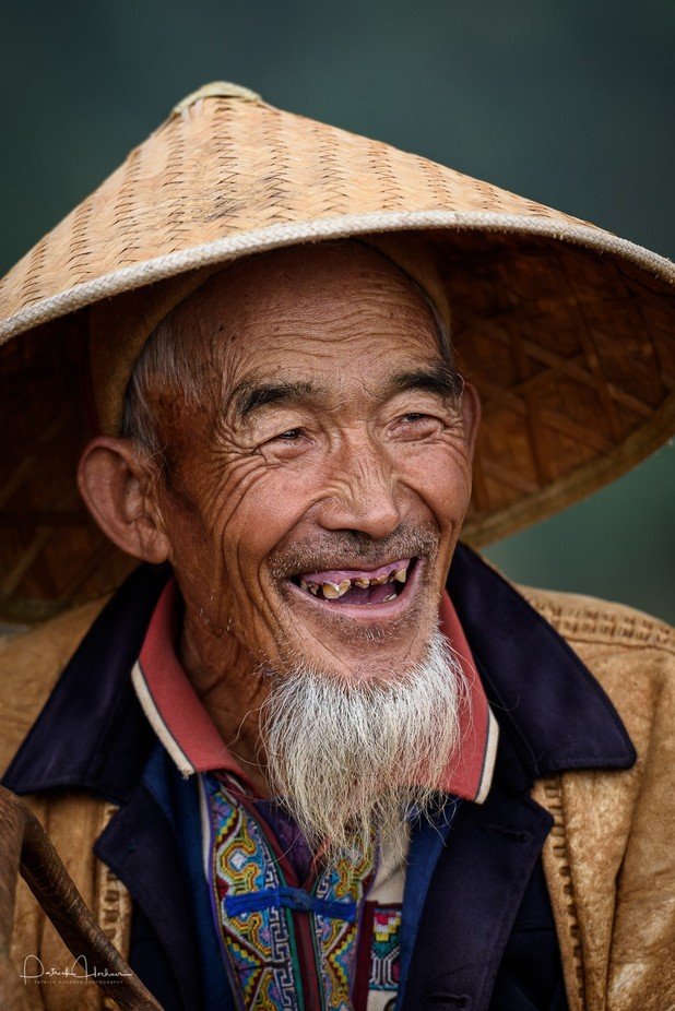 Portrait of an old man, Yunnan by Patosan - The Face Of A Man Photo Contest