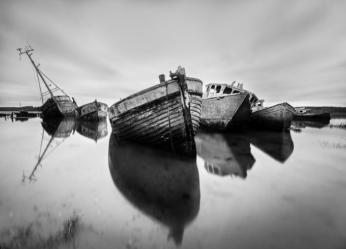 Pin Mill Wrecks by chrisdriverphoto - Ships And Boats Photo Contest