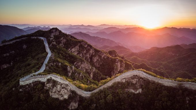 Great Wall Sunrise by dyanpratt - Explore Asia Photo Contest