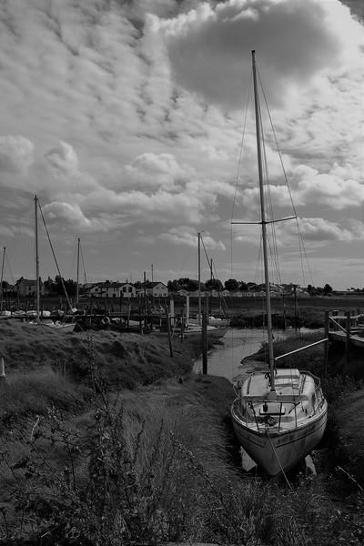 Sailboat Stranded on the Riverbank