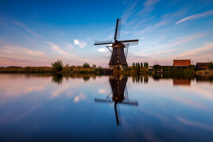 Kinderdijk sunset by madspeteriversen - Windmills Photo Contest