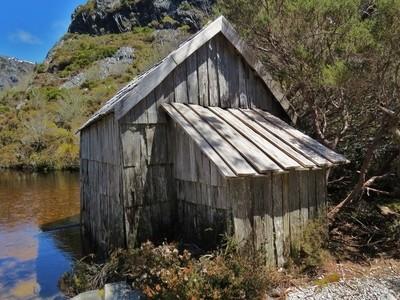 Old fisherman`s  hut