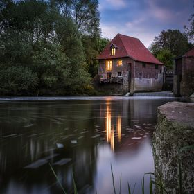 "This is the ""Mill Füchteln"" in Olfen, Germany. Captured during the blue hour on last Sunday. I used three exposures, two for focus sta..."