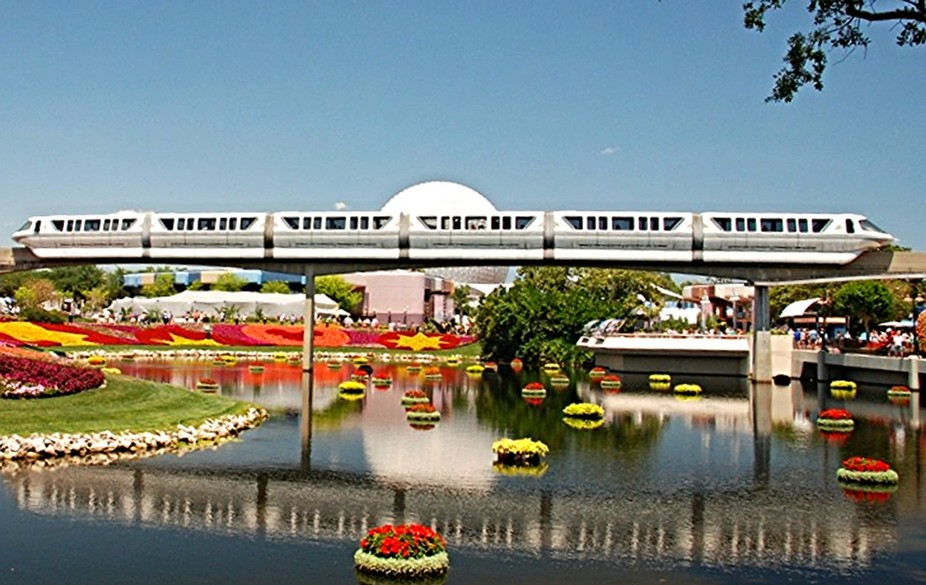 Disney Monorail at Epcot
