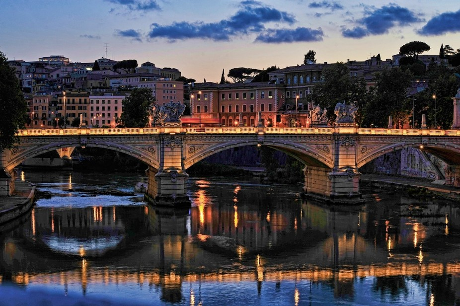 Tiber River Reflections