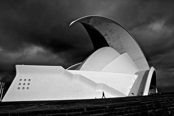 Tenerife Auditorium  by felicebellini - Monochrome Creative Compositions Photo Contest