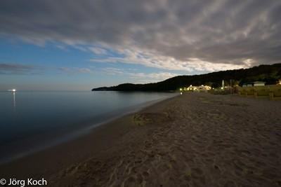 Binz - Island of Rugen, main beach, long time exposure by night