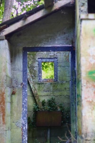 Abandoned toilet block, Otauira Reserve 3