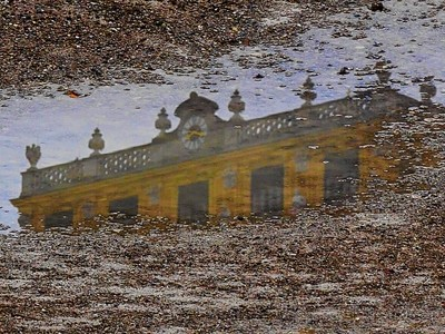 Reflection of the past...on a rainy day. Schönbrunn Vienna