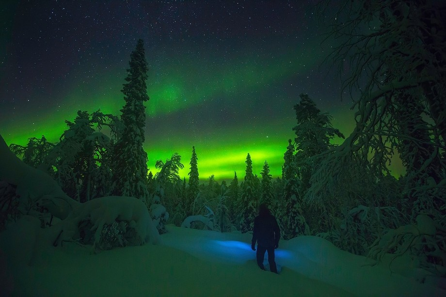 Self portrait. -40C degrees and the Northern lights 2017 I took this photograph as a 'Wi...