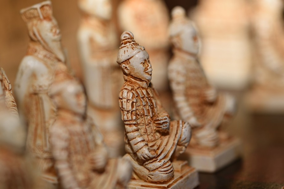 This Chinese chess set is modeled on the Terra Cotta Warriors in Xian, China. The Terracotta Army...