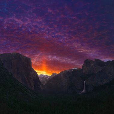 Sunrise over Yosemite Valley, Yosemite National Park, California